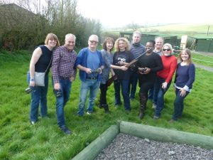 Clay pigeon shooting, archery, boules & dancing